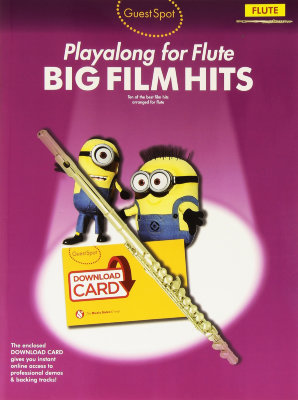 AM1010240 - GUEST SPOT BIG FILM HITS FLUTE BOOK & DOWNLOAD CARD