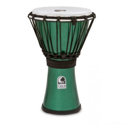 "TOCA TFCDJ-7MG Freestyle Colorsound Djembe X-Small Metallic Green джембе, синтетика, 7""х12,5"""