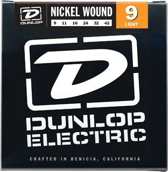 DUNLOP DEN Nickel Plated Steel Light 09-42 струны для электрогитары