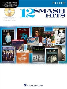 HL00119038 - Hal Leonard Instrumental Play-Along: 12 Smash Hits (Flute) книга с нотами и аккордами
