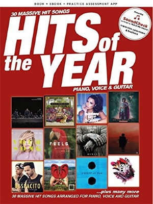 AM1013254 HITS OF THE YEAR 2017 PIANO VOCAL GUITAR BOOK & ONLINE MEDIA...