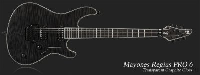 MAYONES Regius 6М Transparent Graphite электрогитара