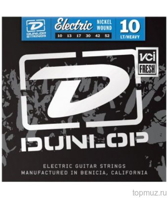 DUNLOP DEN Nickel Plated Steel Light/Heavy 10-52 струны для электрогитары