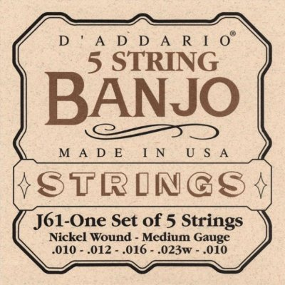 D'Addario J61 - струны для банджо 5 String and Tenor Banjo/Medium/Nickel
