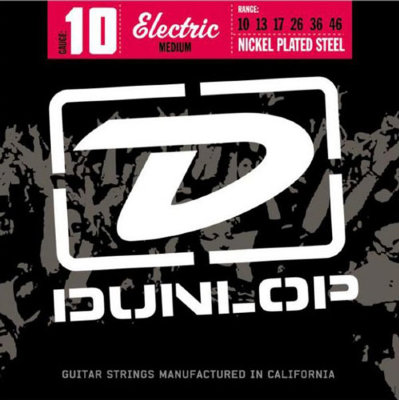 DUNLOP DEN Nickel Plated Steel Medium 10-46 струны для электрогитары