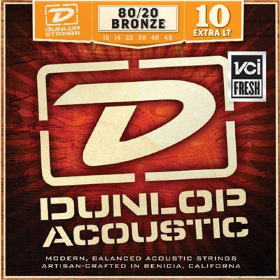DUNLOP DAB 80/20 Bronze Extra Light 10-48 струны для вестерн-гитары