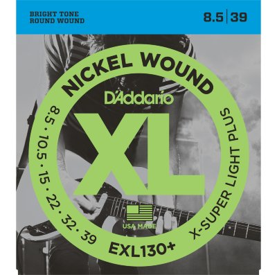D'Addario EXL130 + - струны для электрогитары, Extra Super Light+ 8,5-39