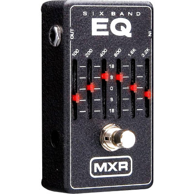 DUNLOP M109S Six Band Graphic EQ эффект гитарный, 6-полосный графический эквалайзер, серебристый