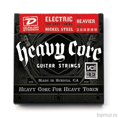 DUNLOP DHCN Heavy Core NPS HEAVIER 11-50 струны для электрогитары