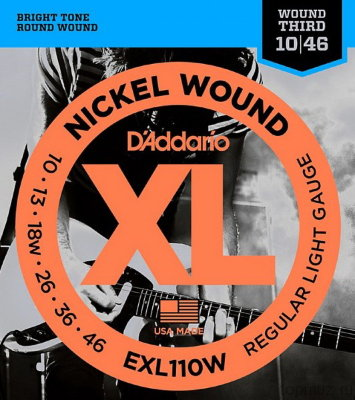 D'ADDARIO EXL110W Regular Light 10-46 струны для электрогитары