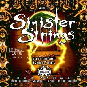 KERLY KQXS-0942 Sinister Nickel Plated Steel Tempered струны для электрогитары