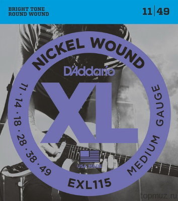 D'ADDARIO EXL115 Blues/Jazz Rock 11-49 струны для электрогитары