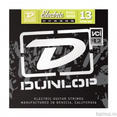 DUNLOP DЕN Nickel Plated Steel Extra Heavy 13-56 струны для электрогитары