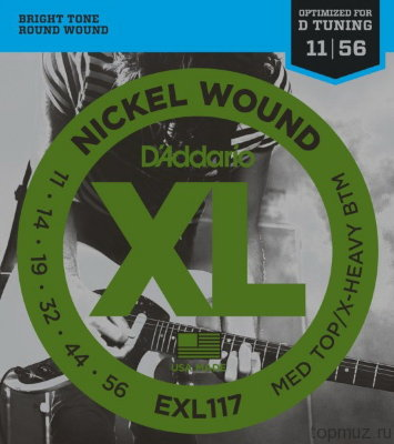 D'ADDARIO EXL117 Medium Top /Extra Heavy Bottom 11-56 струны для электрогитары