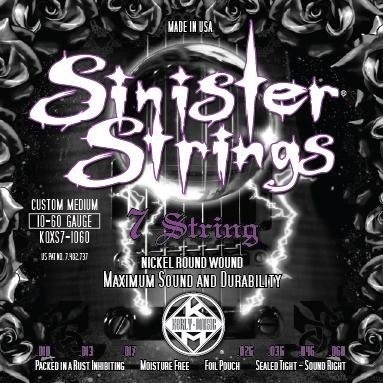 KERLY KQXS7-1060 Sinister 7 Strings Nickel Plated Steel Tempered струны для 7-струнной электрогитары
