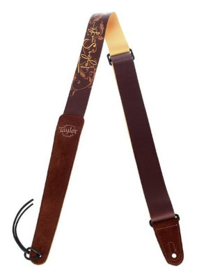 TAYLOR 66000 Taylor Swift Signature Guitar Strap, Brown ремень для гитары taylor Swift