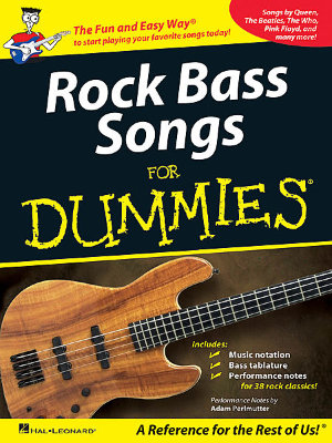 HAL LEONARD BS ROCK BASS SONGS DUMMIES