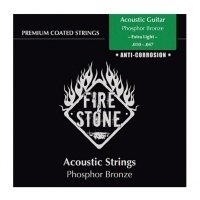 FIRE&STONE Acoustic Guitar 80/20 Bronze 12-string Extra Light 10-50 Coated струны для 12-стр. гитары