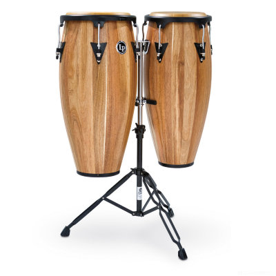 "LATIN PERCUSSION LPA646B-AW Aspire Wood Congas Set w/Basket Stands Natural комплект конга 28""Х10"" & 11"", 2 стойки"