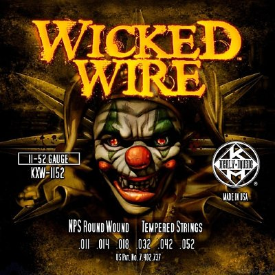 KERLY KXW-1152 Wicked Wire Roundwound Tempered струны для электрогитары