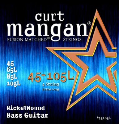 CURT MANGAN 45-105 Nickel Bass Extra Long струны для бас-гитары