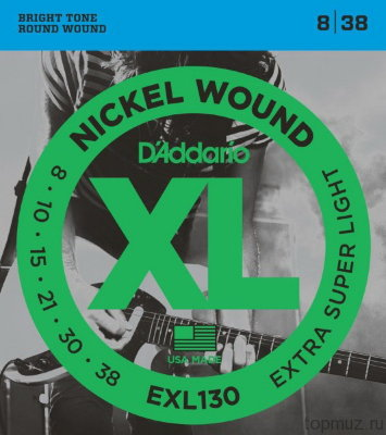 D'ADDARIO EXL130 Extra Super Light 8-38 струны для электрогитары