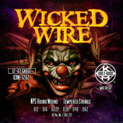 KERLY KXW-1262 Wicked Wire Roundwound Tempered струны для электрогитары