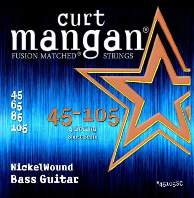 CURT MANGAN 45-105 Nickel Bass Short Scale струны для бас-гитары