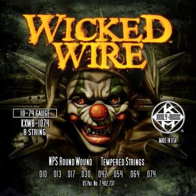 KERLY KXW8-1074 Wicked Wire 8 Strings Roundwound Tempered струны для 8-струнной электрогитары