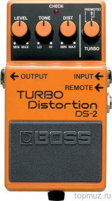 Педаль BOSS DS-2 Turbo Distortion для электрогитары