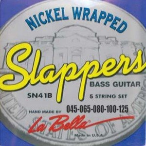 La Bella SN41-B Slappers Low B Nickel Plated Round Wound 45-125