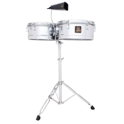 "LATIN PERCUSSION LPA256 Aspire Timbales Chrome комплект тимбале 13"" и 14""Х6-1/2"" со стойкой и ковбеллом"