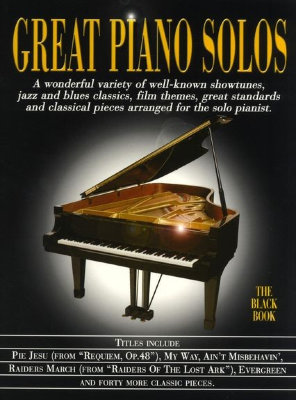 AM970167R Great Piano Solos The Black Book книга: великие фортепианные...