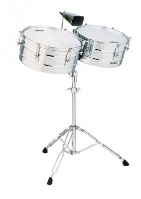 "LATIN PERCUSSION M257 Timbales Matador комплект тимбале 14""х8"" и 15""х8"" со стойкой и ковбеллом"