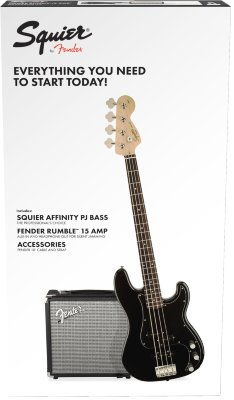 Squier Affinity Series™ Precision Bass® PJ Pack набор- бас-гитара и аксессуары