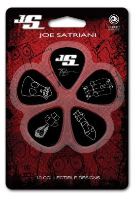 Набор медиаторов PLANET WAVES 1CBK4-10JS Joe Satriani, Medium, 10 шт./уп.