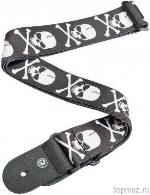 Гитарный ремень PLANET WAVES 50H01 Cross Bone Skull