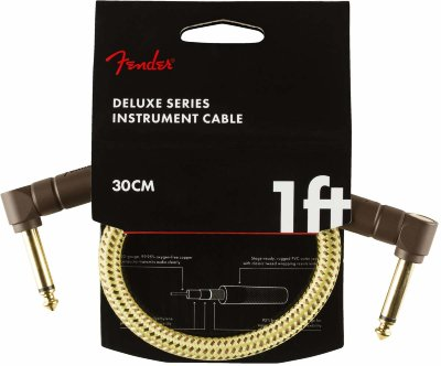 FENDER DELUXE 1' INST CABLE TWD инструментальный кабель, твид, 1'