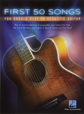 HL00131209 FIRST 50 SONGS YOU SHOULD PLAY ON ACOUSTIC GUITAR GTR BK