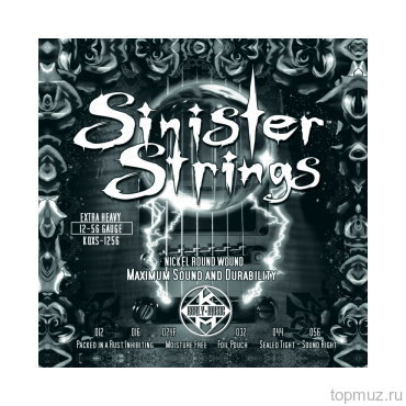 KERLY KQXS-1256 SINISTER STRINGS - NICKEL PLATED STEEL .012-.056 струны для электрогитары