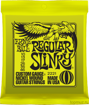 Ernie Ball 2221 Nickel Wound Regular Slinky (10-13-17-26-36-46) для электрогитары