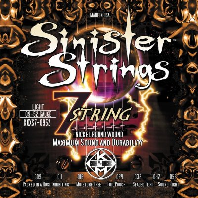 KERLY KQXS7-0952 SINISTER 7 STRINGS струны для электрогитары