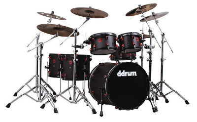 Ddrum HYBRID 6 BLK RED гибридная ударная установка с триггерами