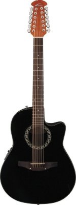 Applause AB2412-5 Balladeer Mid Cutaway Black электроакустическая гитара