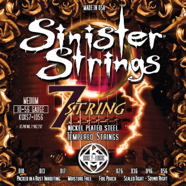 KERLY KQXS7-1056 SINISTER 7 STRINGS - NICKEL PLATED STEEL струны для электрогитары