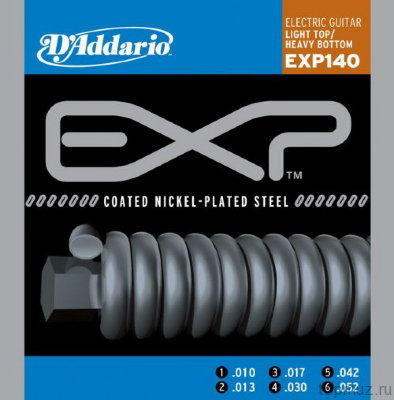 D'ADDARIO EXP140 Light Top/Heavy Bottom 10-52 струны для электрогитары