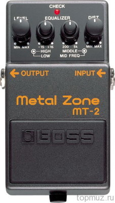 Педаль BOSS MT-2 Metal Zone для электрогитары
