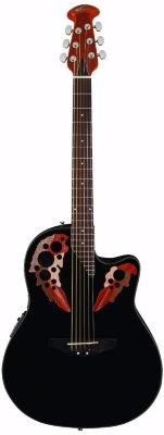 Applause AE44-5 Elite Mid Cutaway Black электроакустическая гитара