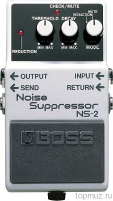 Педаль BOSS NS-2 Noise Suppressor для электро и бас гитары