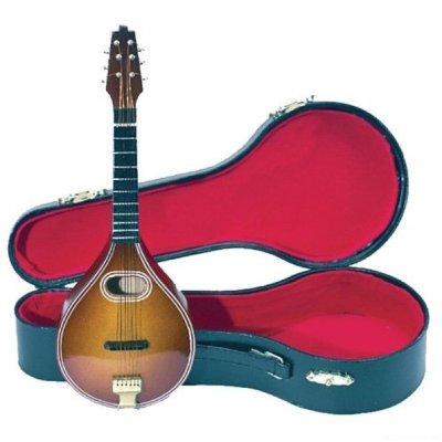 GEWA Miniature Instrument Mandolin сувенир-мандолина деревянная с футляром 20 см